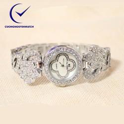 Đồng hồ nữ bs chính hãng mặt họa tiết hoa sang trọng BS09
