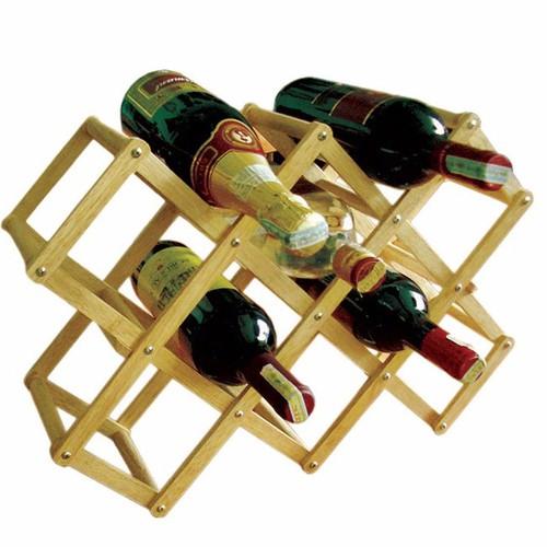 Kệ xếp 10 chai gỗ Đức Thành 40401