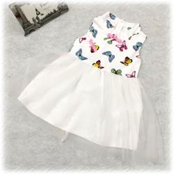 Đầm sườn xám hoạ tiết bướm xinh xắn cho bé gái