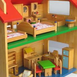 Thiết bị cho bộ đồ chơi nhà búp bê 2 tầng nhỏ Alengkeng MT38