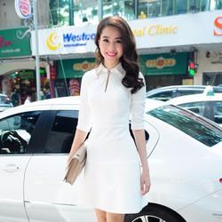 Đầm Cổ Sơ Mi Phong Cách Tiểu Thư