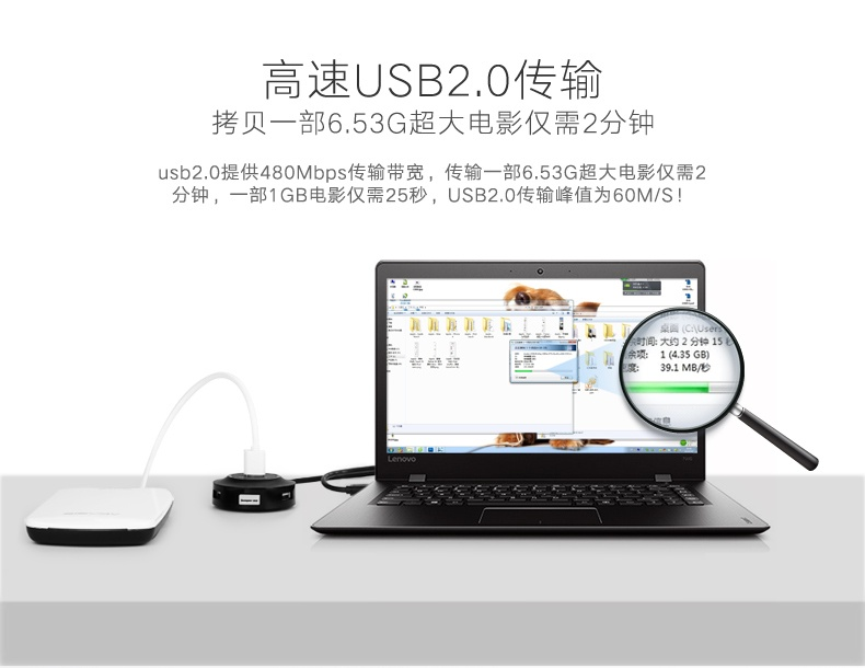 Bộ chia USB 4 cổng hỗ trợ OTG chính hãng Ugreen 20278 9
