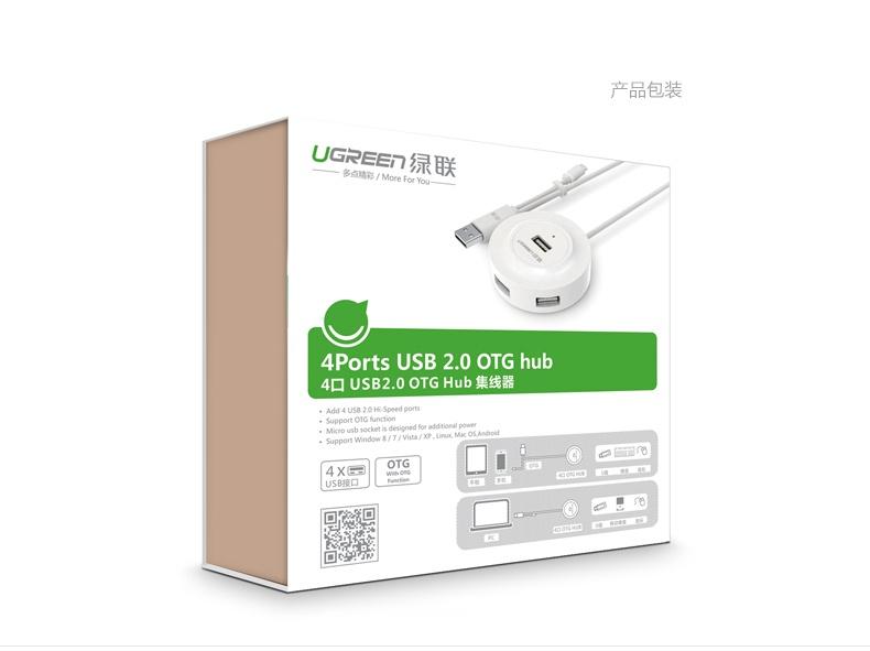 Bộ chia USB 4 cổng hỗ trợ OTG chính hãng Ugreen 20278 17