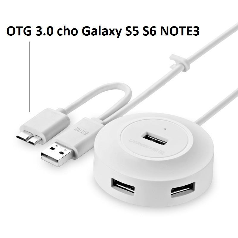 Bộ chia USB 4 cổng hỗ trợ OTG Ugreen UG-20276 cho Galaxy S5, S6, Note3 1