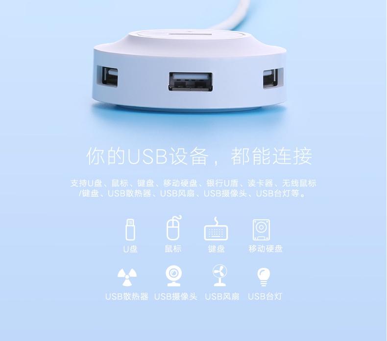 Bộ chia USB 4 cổng hỗ trợ OTG Ugreen UG-20276 cho Galaxy S5, S6, Note3 8