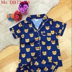 Đồ mặc nhà nữ short hình chú gấu dễ thương DBTN496