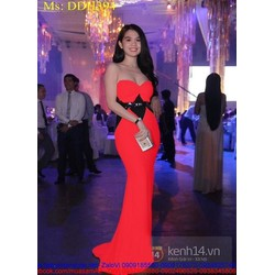 Đầm dạ hội cúp ngực màu đỏ sang trọng nổi bật DDH394