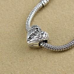 charm tim cánh thiên thần bạc Tây Tạng