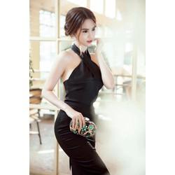 Đầm ôm body cổ yếm D706