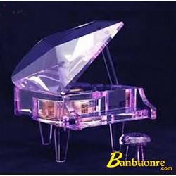 Hộp Nhạc Piano Pha Lê Màu