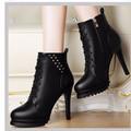 Giày boot cổ cao phong cách Hàn Quốc B048