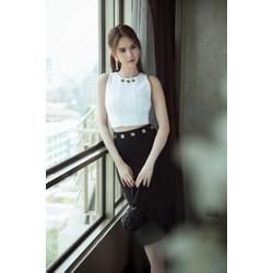 Set áo trắng váy đen Ngọc Trinh 3319
