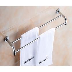 Máng treo khăn đôi cong Inox 304 cao cấpNB-B3