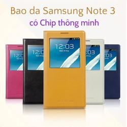 Bao da SamSung Galaxy Note 3 N9000 chính hãng Hoco có chip thông minh