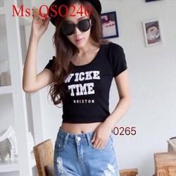 Quần short jean nữ xắn lai rách sành điệu QSO240