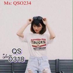 Quần short jean nữ xanh nhạt rách phong cách QSO234