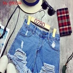 Quần short jean nữ rách tua thời trang vả sành điệu QSO244