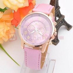 Đồng hồ nữ dây da tổng hợp Geneva