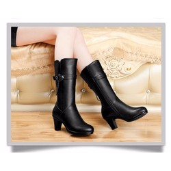 Giày boot cổ cao phong cách Hàn Quốc B049