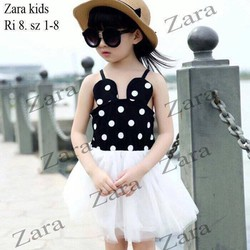 Đầm Zara chấm bi tai chuột dễ thương cho bé gái 10-25kg