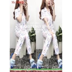 Đồ bộ nữ mặc nhà pyjama ngắn tay hello kitty trẻ trung NN498