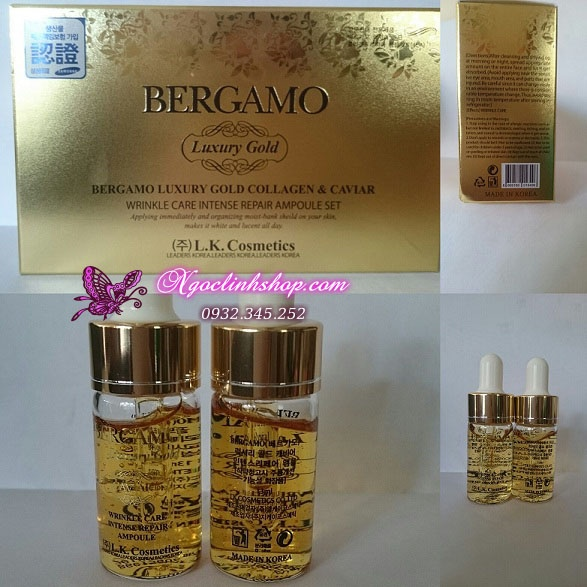 Serum BERGAMO Luxury Gold Collagen Caviar - Hộp 4 lọ 3