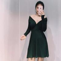 Đầm xòe dài tay