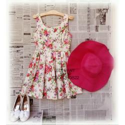 Đầm kaki hoa Hàng Thái