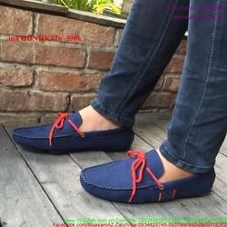 Giày mọi nam da lộn thắt nơ phong cách trẻ trung GDNHK176