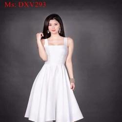 Đầm xòe 2 dây kiểu dáng đơn giản xinh đẹp và duyên dáng DXV293