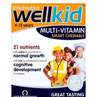 Thuốc bổ sung Multi-Vitamin Vitabiotics Wellkid cho bé 30 viên