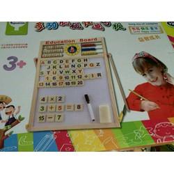 Bảng chữ  số nam châm 2 mặt cho bé