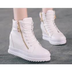 Giay boot nữ cổ cao cá tính B042T