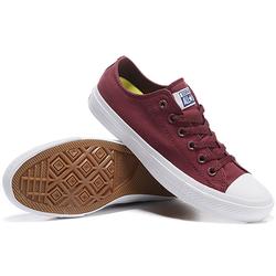 Giày Sneaker Nam Đỏ Đô Cổ Thấp