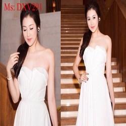 Đầm xòe trắng dự tiệc cúp ngực xinh đẹp và trẻ trung DXV291