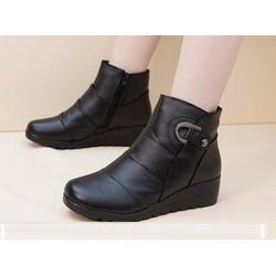 B043D - Thoitrangxinh - Già boot nữ khóa dây kéo phong cách HQ