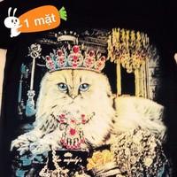 Áo thun in 3D con mèo