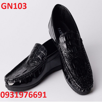 Giày tây nam da bóng cá sấu - GN103