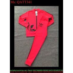 Bộ thể thao nữ dài logo ad sành điệu trẻ trung QATT341