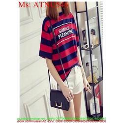 Áo thun nữ ngắn tay kẻ sọc màu trẻ trung năng động ATNU546