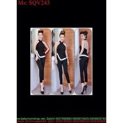 Sét áo kiểu yếm thắt nơ eo xinh đẹp và quần baggy SQV243