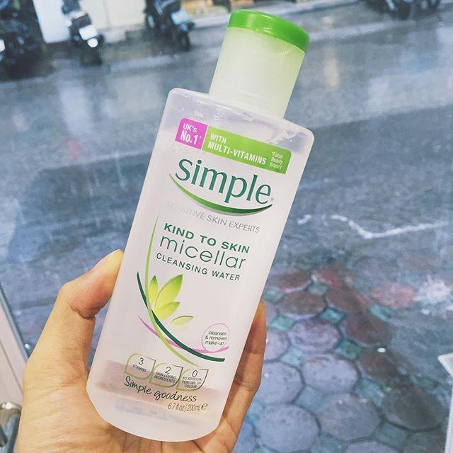 Nước Tẩy Trang Simple Kind To Skin Micellar Cleansing Water 1