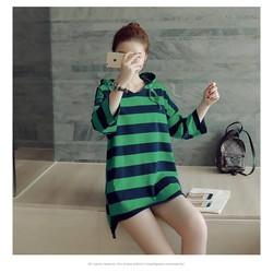 Đầm oversize kẻ sọc có nón T270901