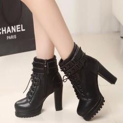B07D - Giày bốt nữ phong cách Hàn Quốc