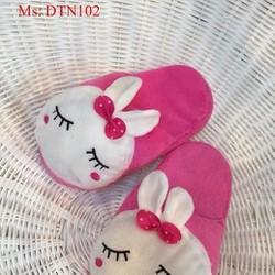Dép mang trong nhà thú bông hình puka hồng dễ thương DTN102