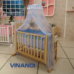 Nôi gỗ đa năng tự động cho bé VINANOI VNN301