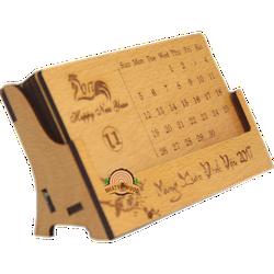 Lịch gỗ thẻ 6 tấm