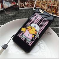 ỐP LƯNG SILICON DẺO pikachu iphone 5,5s6,6s,6 plus-p7