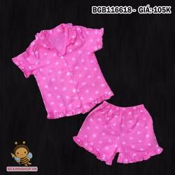 Bộ đồ ngủ bé gái mặc nhà dễ thương cho bé gái 1 - 8 tuổi