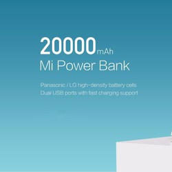 Pin sạc dự phòng Xiaomi 20.000mAh chính hãng-BH 12 tháng